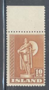 Iceland Sc 231 1945 10kr Thorfinn Karlsefni stamp mint NH