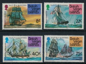 Virgin Islands #309-12a* NH CV $13.55 US Bicentennial set & souvenir sheet