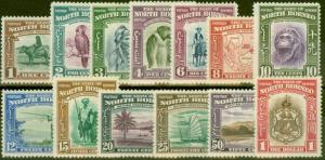 North Borneo 1939 set of 13 to $1 SG303-315 Fine & Fresh Lightly Mtd Mint