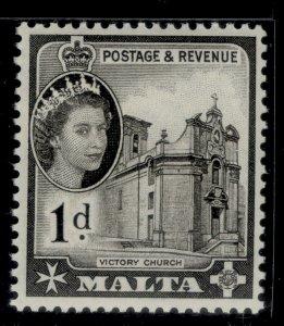 MALTA QEII SG268, 1d black, NH MINT.