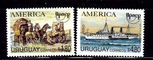 Uruguay 1543-44 MNH 1994 set