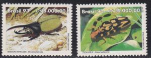 Brazil # 2408-2409, Beetles, NH, 1/2 Cat