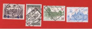 Belgium #Q180-371-378-382  VF used  Postagee Due Free S/H