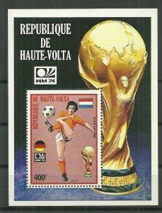1974 Burkina Faso Soccer World Cup MNH S/S