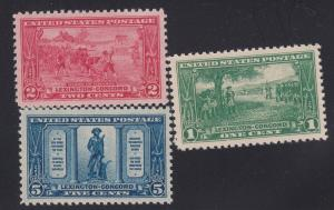 617-619 set VF-XF OG never hinged with nice color cv $ 39 ! see pic !