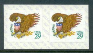 2596 29c Eagle Fine MNH Coil Pair