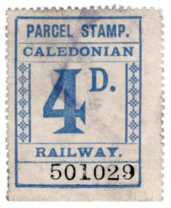 (I.B) Caledonian Railway : Parcel Stamp 4d