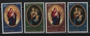 ST. LUCIA, (4) SET, 237-240, HINGED, 1968, Christmas type