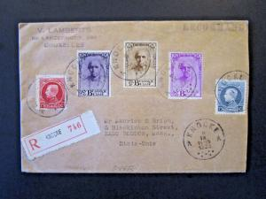 Belgium SC# 163, 164, 203 B114 - B116 on Cover to USA - Z5366
