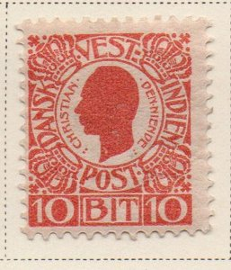 Danish West Indies Sc 32 1905 10 bit red Christian IX stamp mint