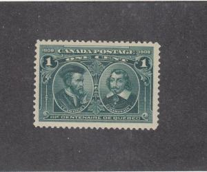 CANADA (MK3385) # 97  VF-MH  1cts  CARTIER & CHAMPLAIN/QUEBEC 300TH CAT VAL $50