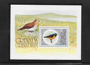 BIRDS - GRENADA GRENADINES #152-BLUE HOODED EUPHONIA  MNH