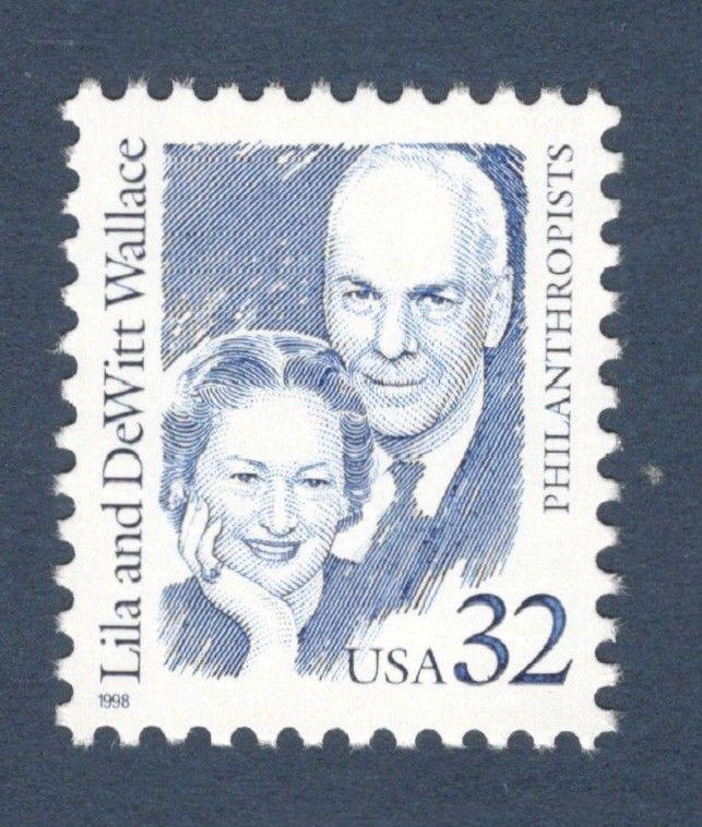2936 Lila & DeWitt Wallace US Single Mint/nh Free Shipping