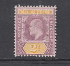 Northern Nigeria SG 22a MLH. 1905 2p KGV on Chalky Paper, VF