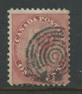 Canada 1859 1 cent rose used with a nice target cancel