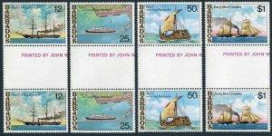 Barbados 487-490 gutter,MNH.Michel 456-459. Postal Ships,1979.Mail steamer,Ra II