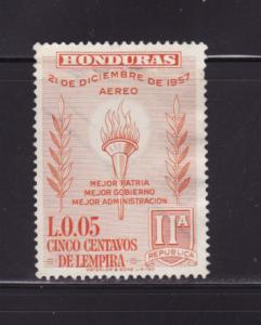 Honduras C304 U Torch and Olive Branch (B)