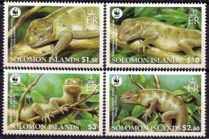 Solomon Islands MNH 1282-5 Prehensile Tailed Skink WWF 2005