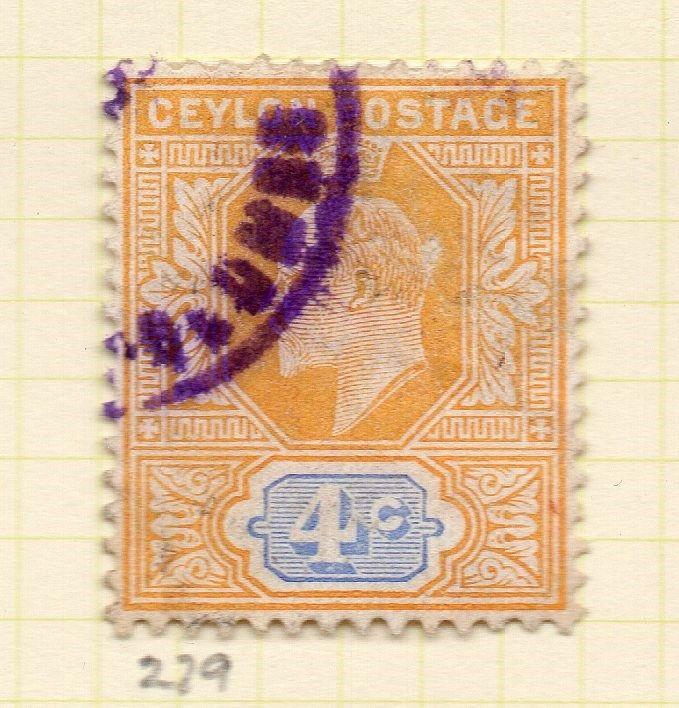 Ceylon 1904-05 Early Issue Fine Used 4c. 263409
