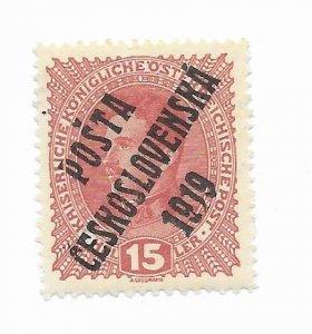 Czechoslovakia #B7 MH Nice O/P - Stamp - CAT VALUE $.25+++++++++