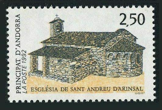 Andorra Fr 413,MNH.Michel 436. Church of St Andrew of Arinsal,1992.