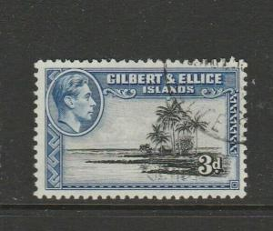 Gilbert & Ellice Islands 1939/55 3d P12 VFU SG 48a