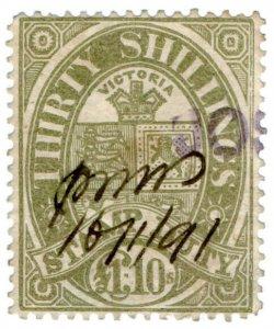 (I.B) Australia - Victoria Revenue : Stamp Duty 30/-
