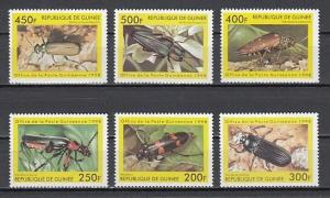 Guinea MNH Set Of 6 Beetles Insects 1998