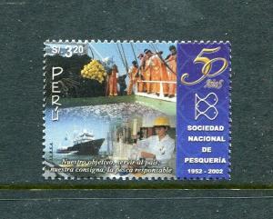 Peru 1348, MNH, National Fisheries Society 50th anniversary 2002. x29700