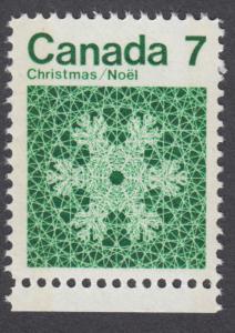 Canada - #555p Christmas Snowflake, W2B Tagged - MNH