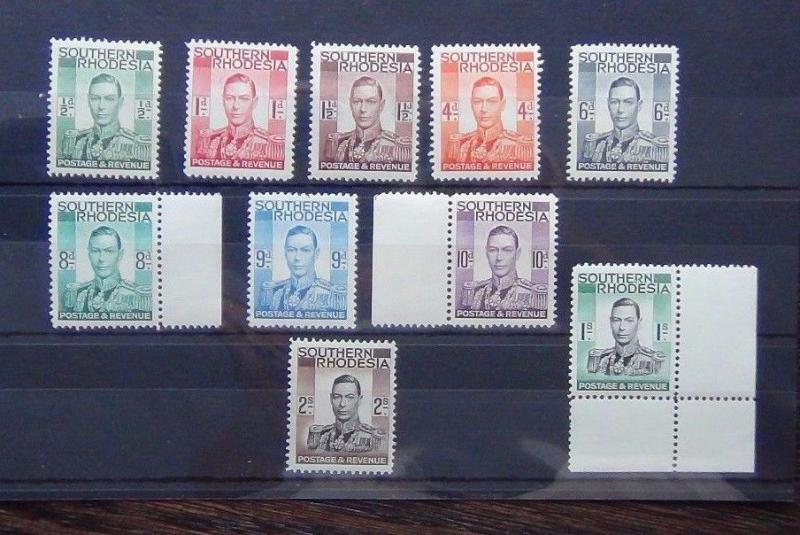Du sud Rhodesia 1937 valeurs to 2 s MNH