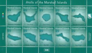 Marshall Islands 2017 MNH Atolls of Marshall Islands 10v M/S Tourism Stamps