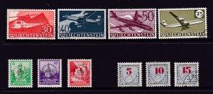 Liechtenstein a small mint or used lot of earlier types