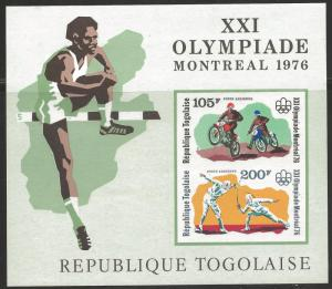 TOGO -1976 XXIth MINT NH SHEET (Reg. + Imperf +Over) OLYMPIADE MONTREAL / SPORTS