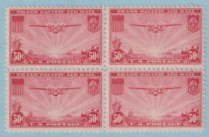 UNITED STATES C22 AIRMAIL BLOCK OF 4  MINT NEVER HINGED OG ** EXTRA FINE! - W025