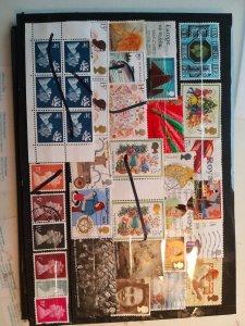Lot 4 United Kingdom full page, 36 stamps used/unused