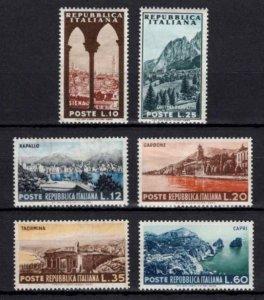 Italy 1953 Tourist Series Set