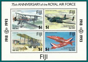 Fiji 1993 Royal Air Force, MS MNH  #691,SGMS877