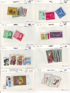 Z655 JLstamps germany DDR mh sets in sales cards, all checked & sound
