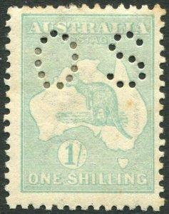 AUSTRALIA-1915-28 1/- Blue-Green Official Sg 048 MOUNTED MINT V35898