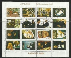 UNITED ARAB EMIRATES AJMAN 1972 FAMOUS MEN & WOMEN 1973 UOMINI DONNE FAMOSI  ...