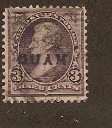 U.S. Guam  Scott # 3   Used