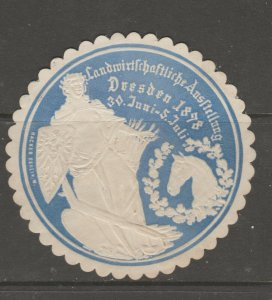 Cinderella revenue fiscal stamp 9-9-55 Old Embossed Die Cut- Horse