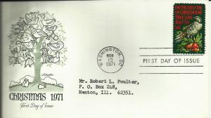 US Christmas 1971 Scott# 1445 FDC