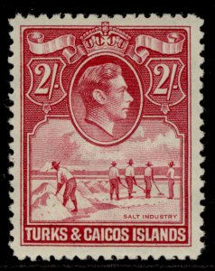 TURKS & CAICOS ISLANDS GVI SG203a, 2s bright rose-carmine, M MINT. Cat £23.