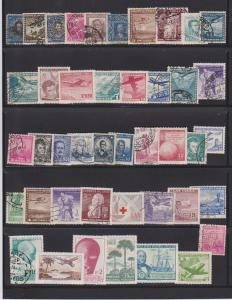 LOT OF DIFFERENT STAMPS OF CHILI USED (43) LOT#133