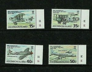 Ascension Island: 1998 80th Anniversary of the RAF,  MNH set