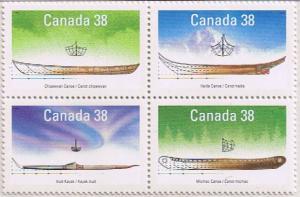 Canada Mint VF-NH #1232a Small Craft - Native Boats block/4