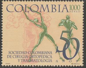 COLOMBIA C901, ORTHOPEDIC SURGERY & TRAUMATOLOGY SOCIETY MINT, NH. F-VF. (546)