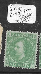 SARAWAK  (P0405B)  LITHO 6C  SG 5 POS 2-93  NGAI
